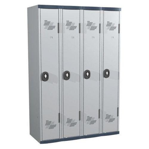 Cacifo com 4 colunas Seamline Optimum® – Coluna de 300mm de largura – Com base – Acial