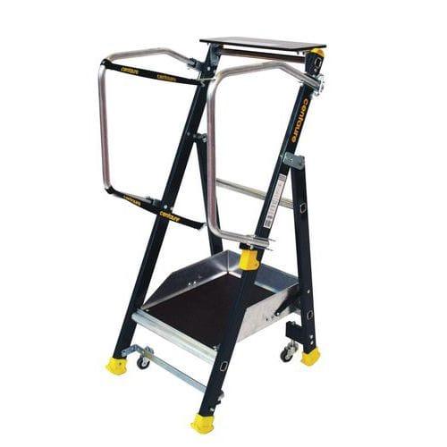 Plataforma industrial ergonómica com rodas Stepper