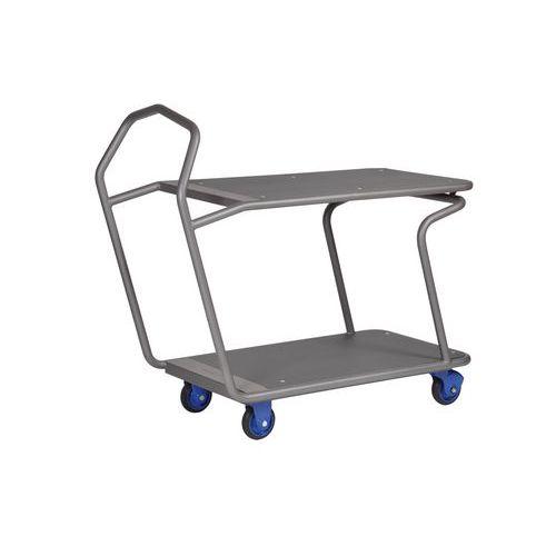 Carro de 2 plataformas ergonómico Edcar - Capacidade de 300 kg