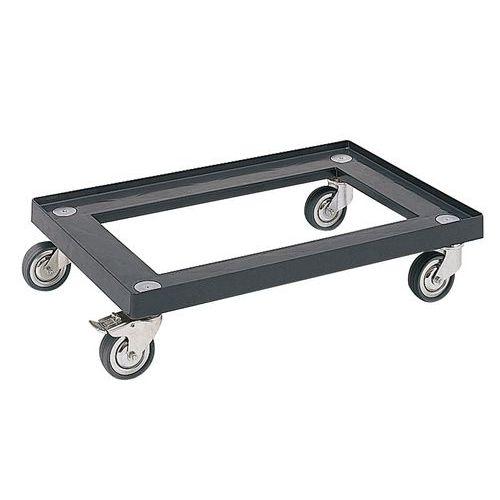 Base com rodas para caixas de norma europeia