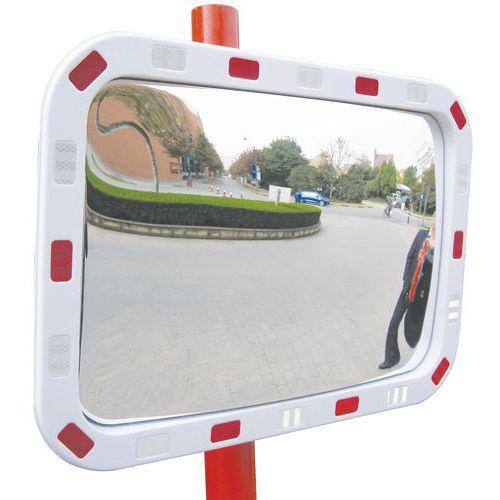 Espelho de segurança retangular - Via privada - Visão a 90° - Manutan