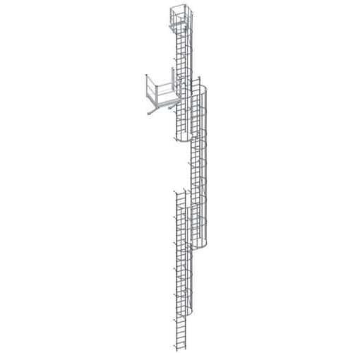 Kit de escada com guarda-corpo – 3000mm de altura