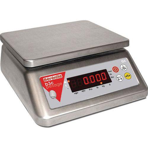 Balança compacta totalmente em inox GX - Capacidade de 3 e 30 kg - B3C
