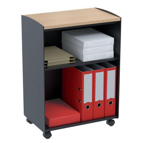 Móvel de apoio com compartimentos - 2 compartimentos - Paperflow
