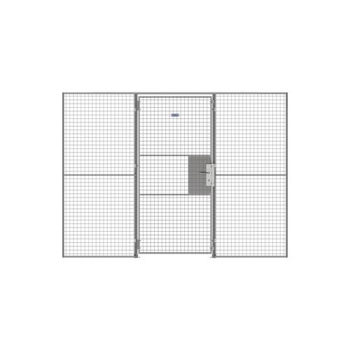 Porta rebatível para divisórias gradeadas UX 450 - Com fechadura