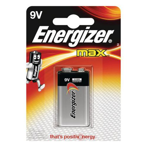Pilha alcalina MAX – 9V/LR61 – Energizer