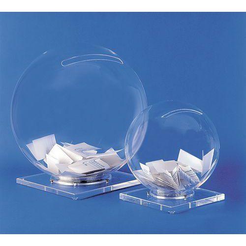 Urna em forma de bola de cristal - Com base