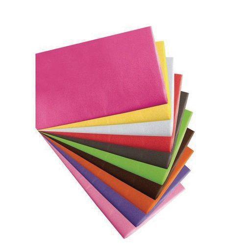 Folhas de papel de seda coloridas – resma de 480 folhas
