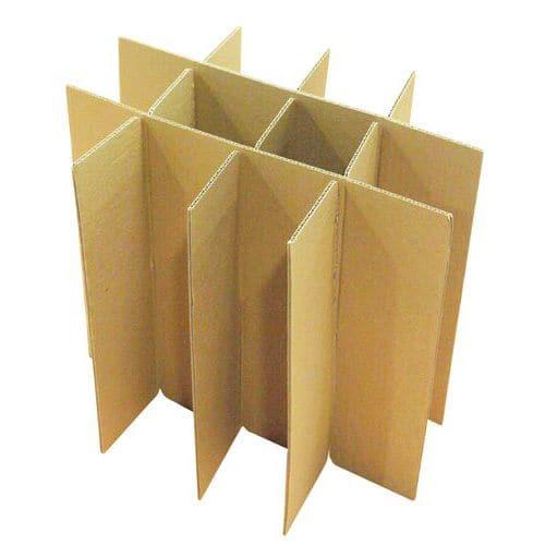 Separador de cartão para caixa de embalagem