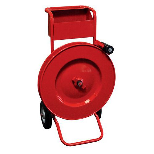 Desenrolador móvel vermelho – Fita de aço em fiadas