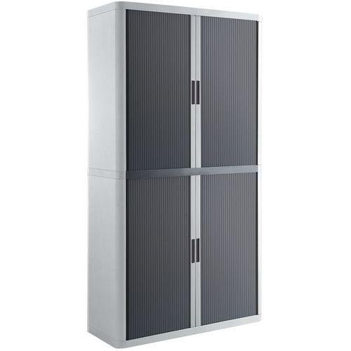 Armário com portas de persiana EasyOffice, em kit - Altura 204 cm