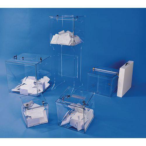 Urna eleitoral transparente - 2000 boletins