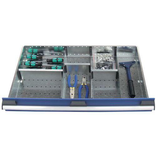Lote de separadores para as gavetas do armário Bott SL-85 - Altura 8 cm