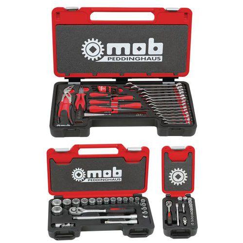 Caixa multi ferramentas roquetes + chaves de caixa - 68 peças