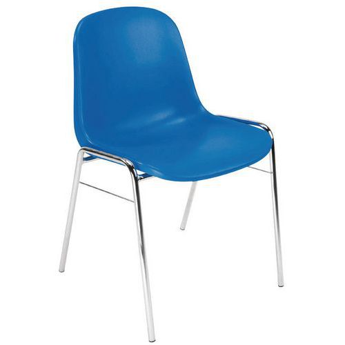 Cadeira de estrutura - Base cromada - Manutan
