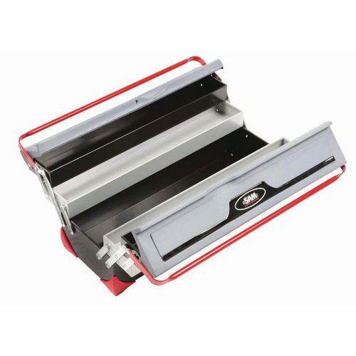 Caixa de ferramentas vazia com 5 compartimentos