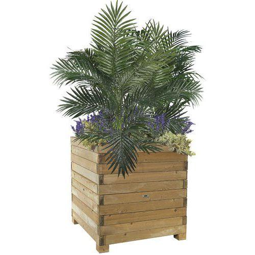 Jardineira em madeira natural