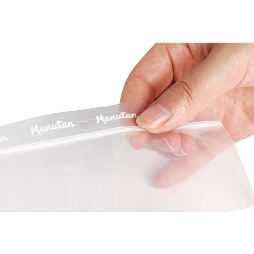Saqueta zip transparente 50 µm - Manutan