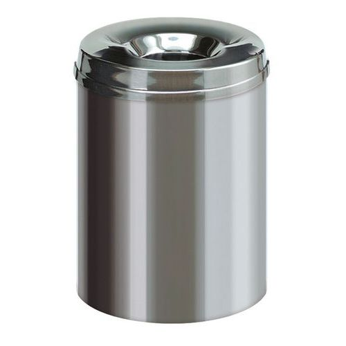 Caixote de lixo para papel antifogo em inox – 15L a 50L