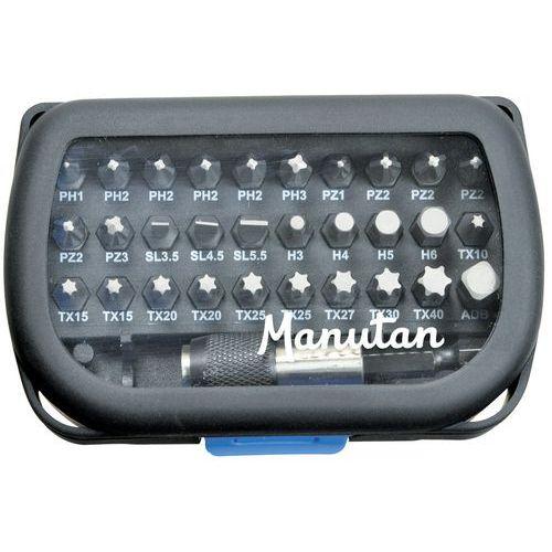 Caixa de 31 pontas + porta-pontas - Manutan