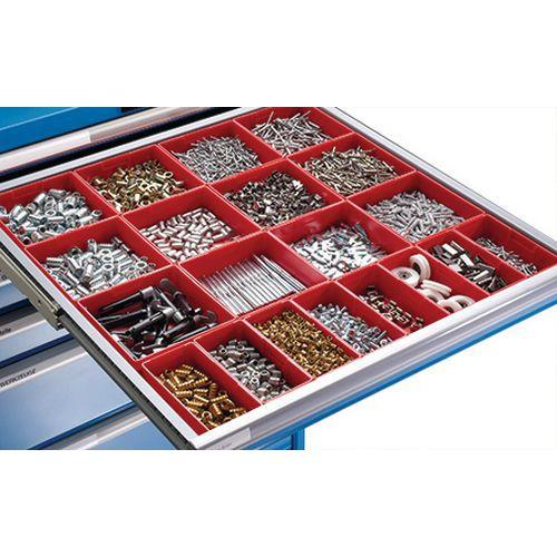 Compartimentos de plástico para gavetas LISTA - Largura 102 cm