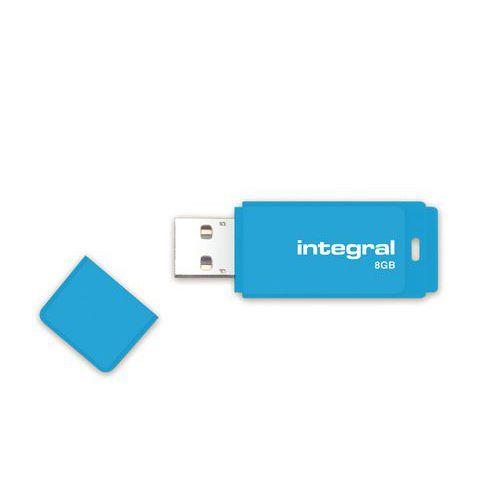 Chave USB 2.0 Néon INTEGRAL