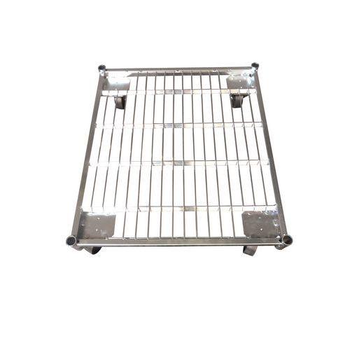 Base de aço para contentor móvel com capacidade de 500 kg