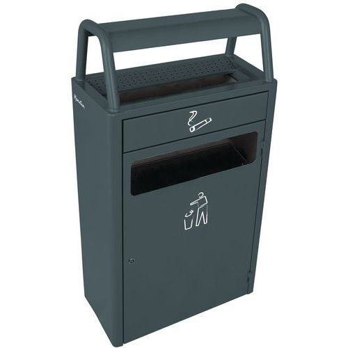 Cinzeiro-caixote do lixo - 6 l / 43 l - Manutan