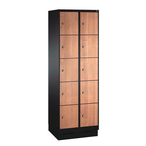 Cacifo de madeira com 10 a 20 compartimentos Évolo I - 2 a 4 colunas de 300 mm de largura