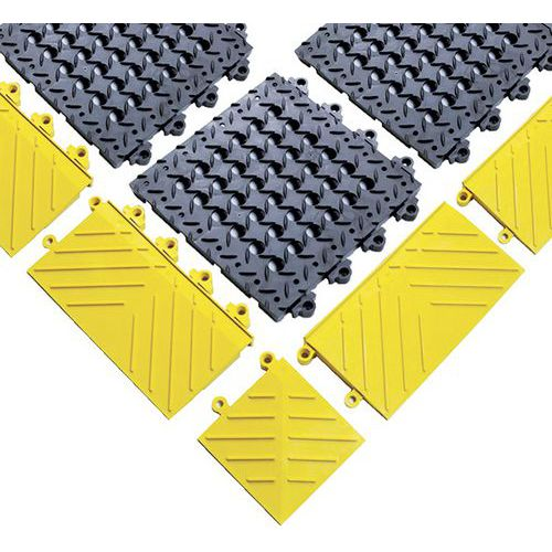 Rebordo para plataforma gradeada antifadiga Diamond Flek Lok™ – Notrax