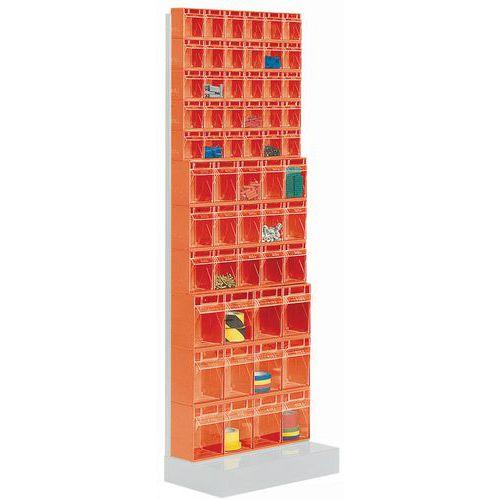 Estante com caixas inclináveis Madia - Altura 175 cm - 11 filas