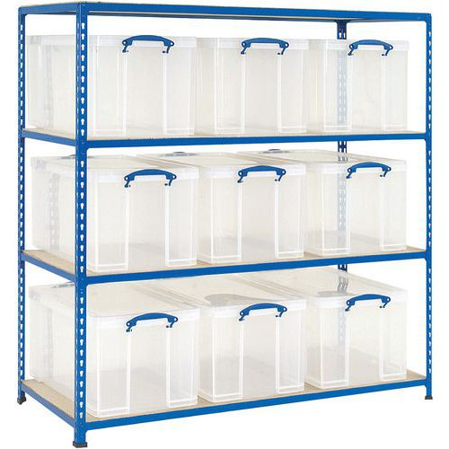 Estante de caixas de armazenamento Blocabac - Com caixas