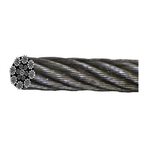 Metro adicional de cabo em aço galvanizado para guinchos