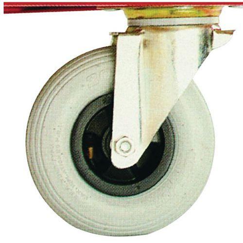 Rodízios pneumáticos para carros de cargas volumosas – capacidade de 250kg