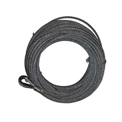 Jogo de cabos em aço com grampo de olhal para guincho de parede - Capacidade de elevação de 50, 200 e 500 kg