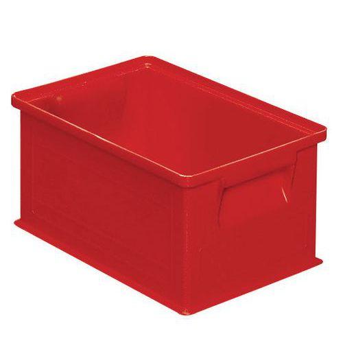 Caixa empilhável – Vermelho – 200 a 630mm de comprimento – 3,6 a 85L