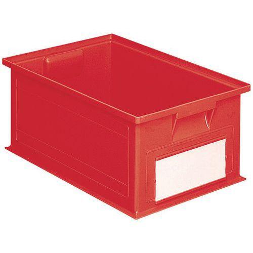 Caixa empilhável com dimensões específicas - Vermelho