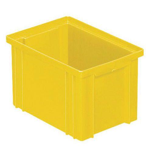 Caixa empilhável – Amarelo – 200 a 630mm de comprimento – 3,6 a 85L