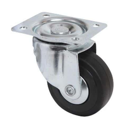 Rodízio giratório com placa - Capacidade de 40 kg