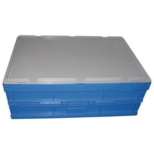 Tampa para caixa dobrável azul - 600 x 400 mm
