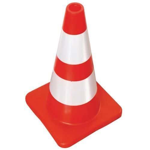 Cone de sinalização com faixas refletoras - Manutan