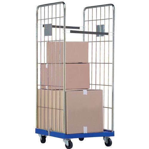 Contentor móvel - Base plástica - Capacidade 500 kg