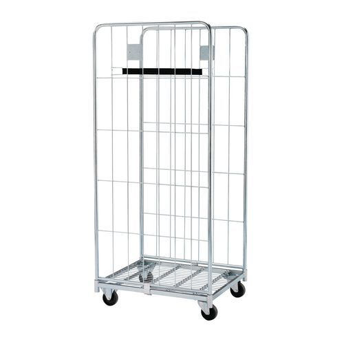 Contentor móvel - Base aço zincado - Capacidade 500 kg