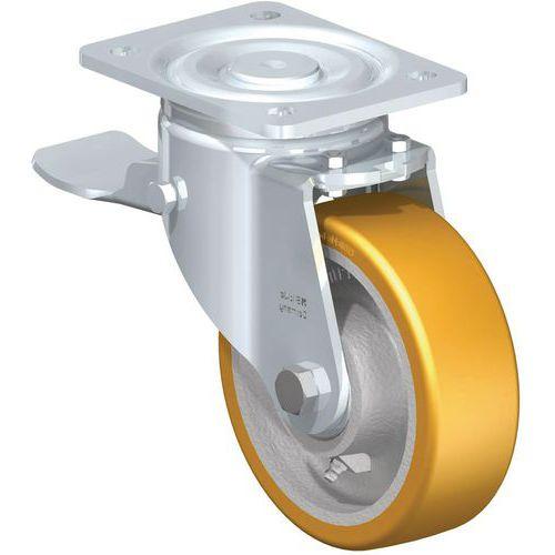 Rodízio com placa - Capacidade de carga de 550 a 700kg - Com proteção de pés