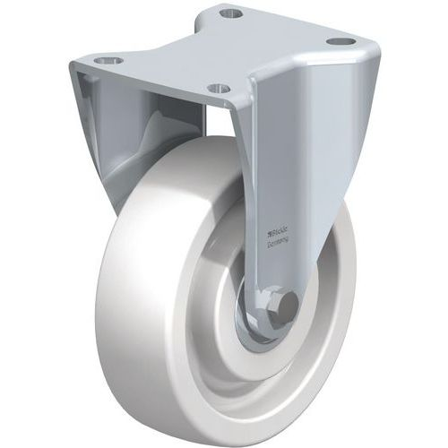 Rodízio fixo com placa - Capacidade de 300 a 900 kg