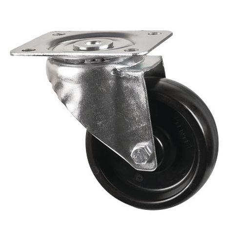 Rodízio giratório com placa - Capacidade de 100 kg