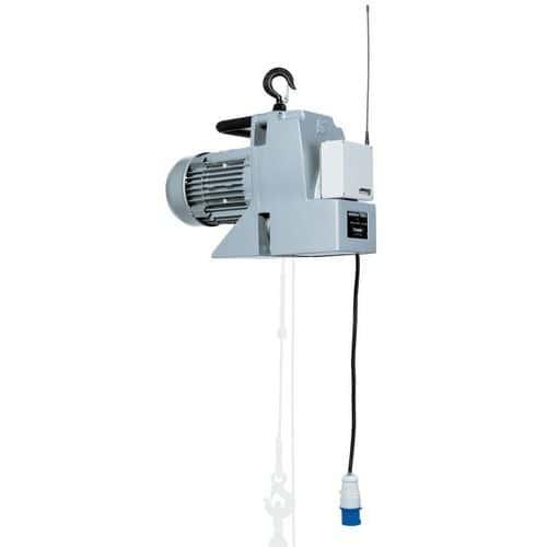 Guincho de elevação e reboque portátil Minifor - Capacidade de 100 a 300 kg - Com comando sem fios