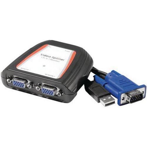 Divisor VGA 2 vias 250MHz alimentação USB