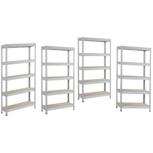 3 estantes + 1 oferta! Estante Manutan – Altura: 1800mm