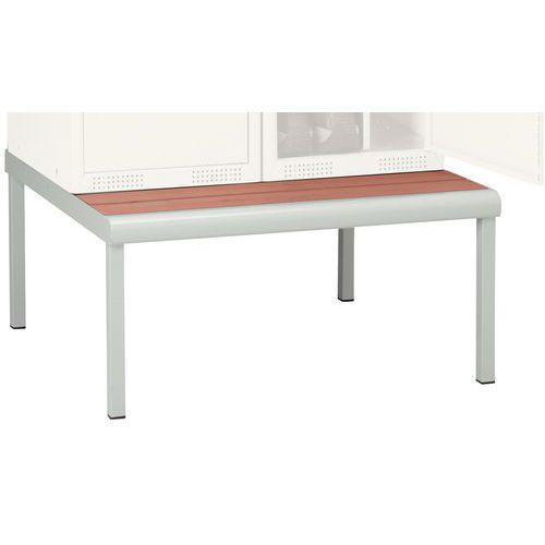 Base-banco de vestiário Seamline® - Indústria limpa/suja